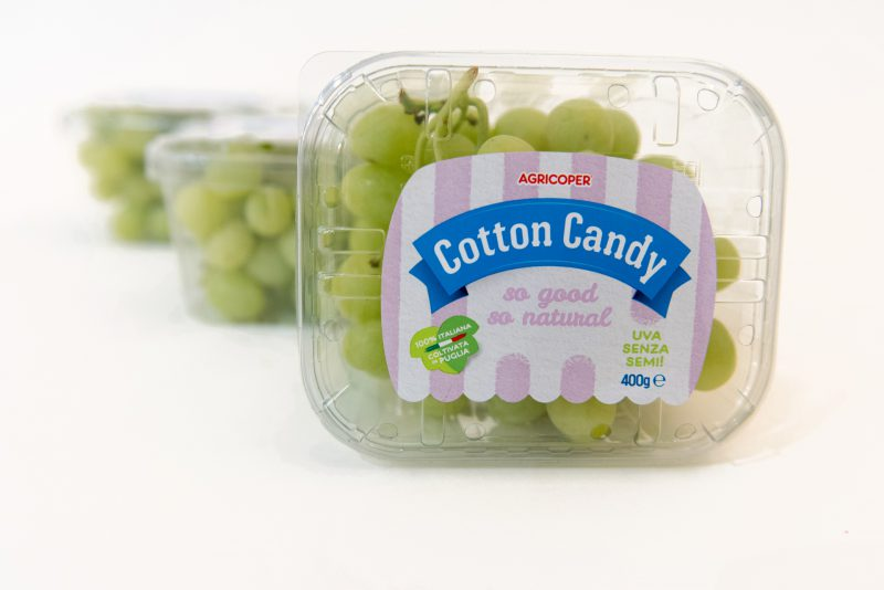 Plastic packaging Cotton Candy Grapes