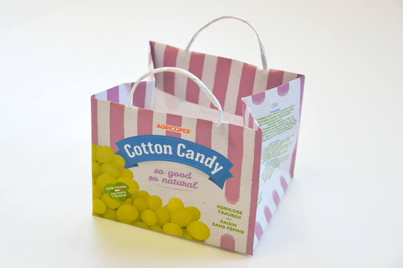Paper packaging Cotton Candy Grapes